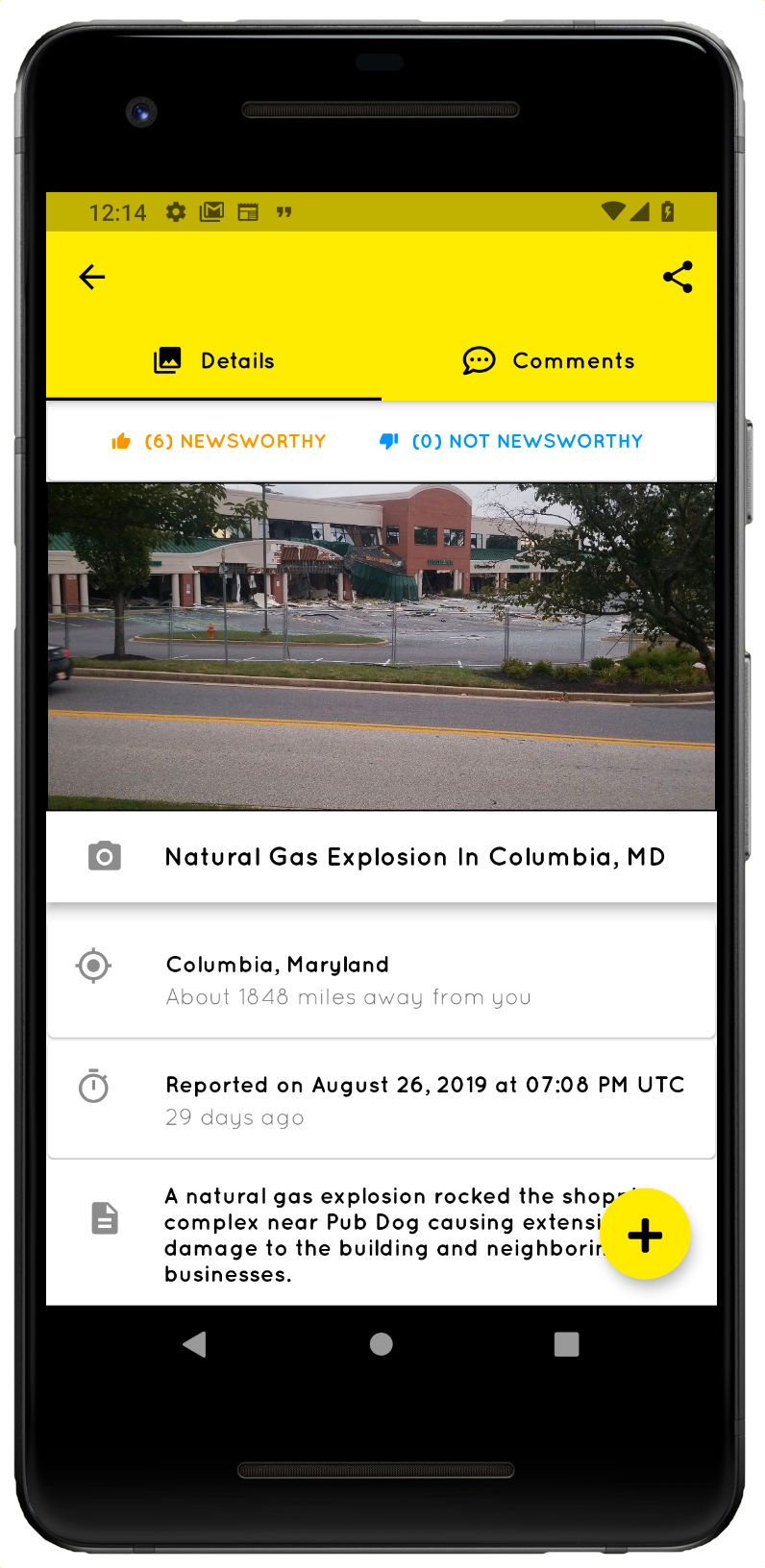 screenshot of The Civic Press Application